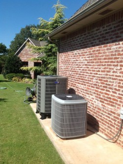A unit providing residential air conditioning in oklahoma city