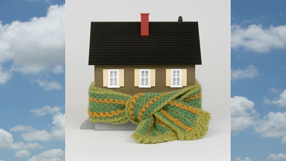 House with a scarf around it